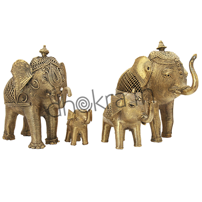 Dhokra Elephant Family