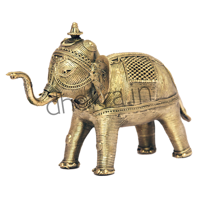 Dhokra Elephant Medium
