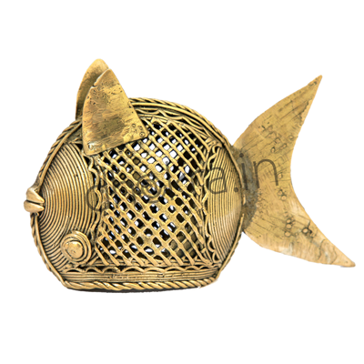 Dhokra Fish Décor – Large