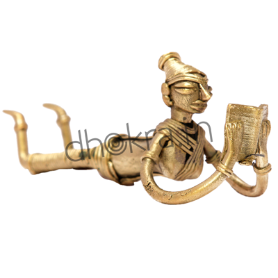 Dhokra Lady Relaxing with a Book