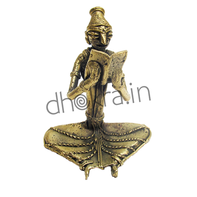 Dhokra Lady with a Book