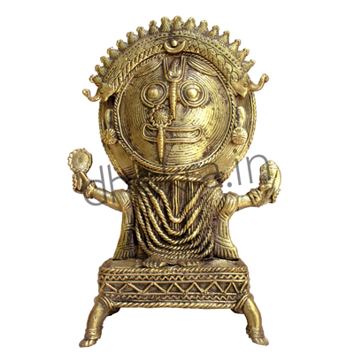 Dhokra Lord Jagannath with Pedestal | Dhokra