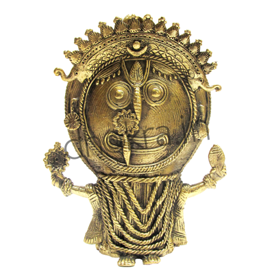 Dhokra Jagannath without Pedestal