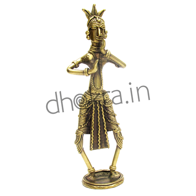 Dhokra Odissi Dancer Statue | Dhokra Home Decor Product | Dhokra