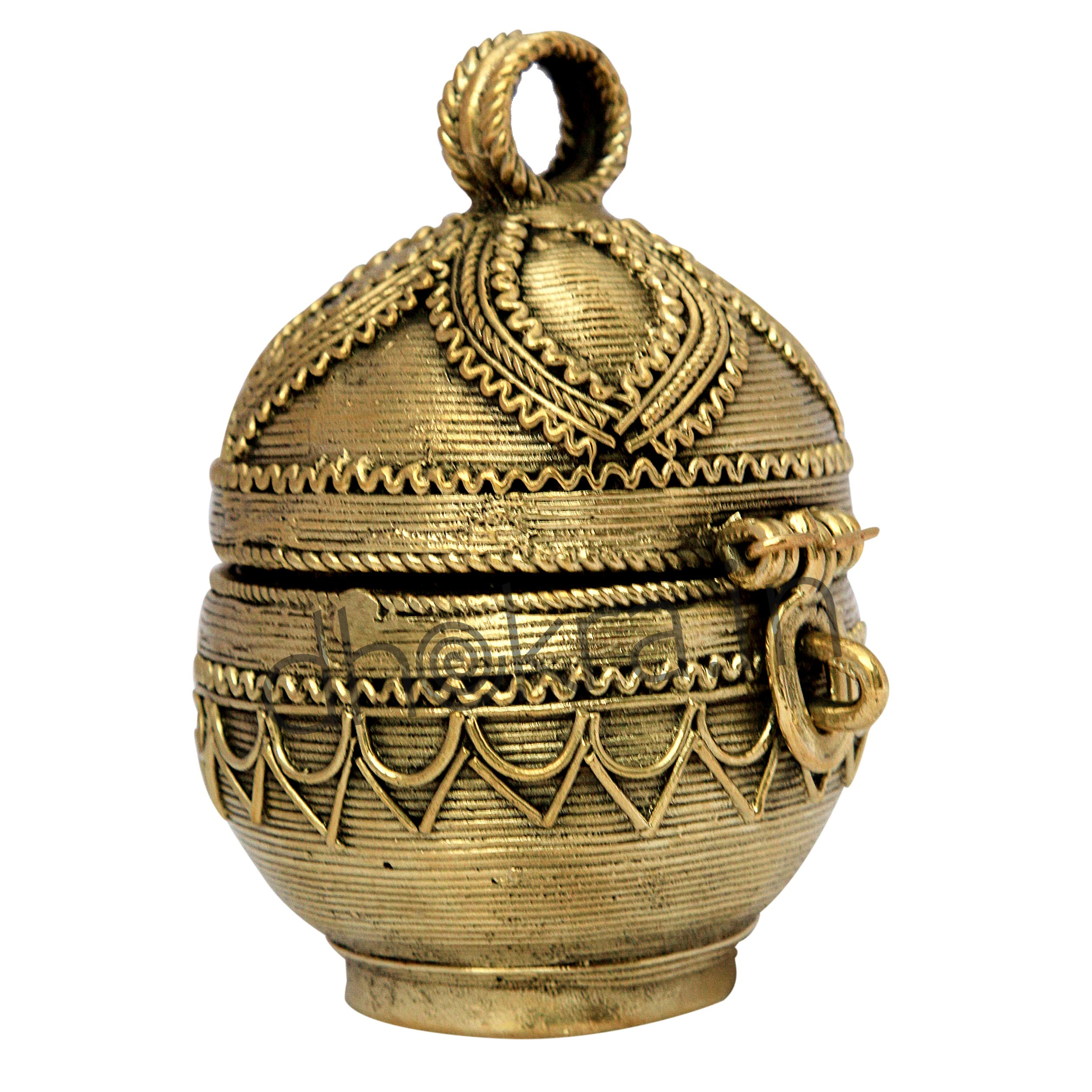 Dhokra Jewellery Box Round shaped