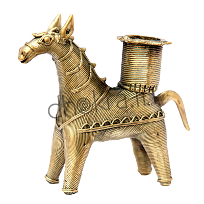 Candle Stand- Horse
