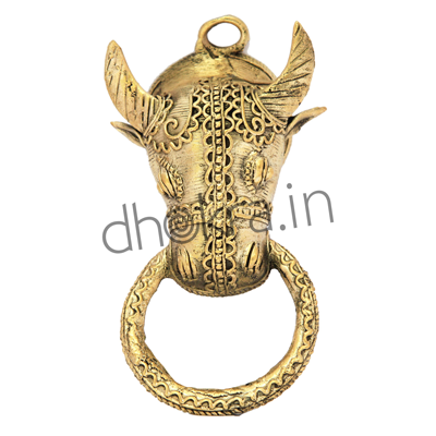 dhokra Bull shaped Towel Hanger